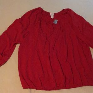 Chico's Size 3 Red Top NWT